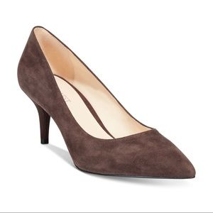 NINE WEST Margot Brown Suede Pumps